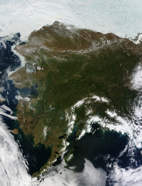 Rare Cloud Free Alaska