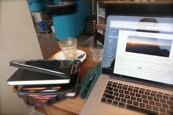 A laptop makes for your own private space, wherever you are
