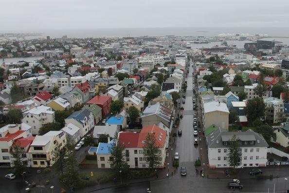Reykjavik from Hallgrimskirkja