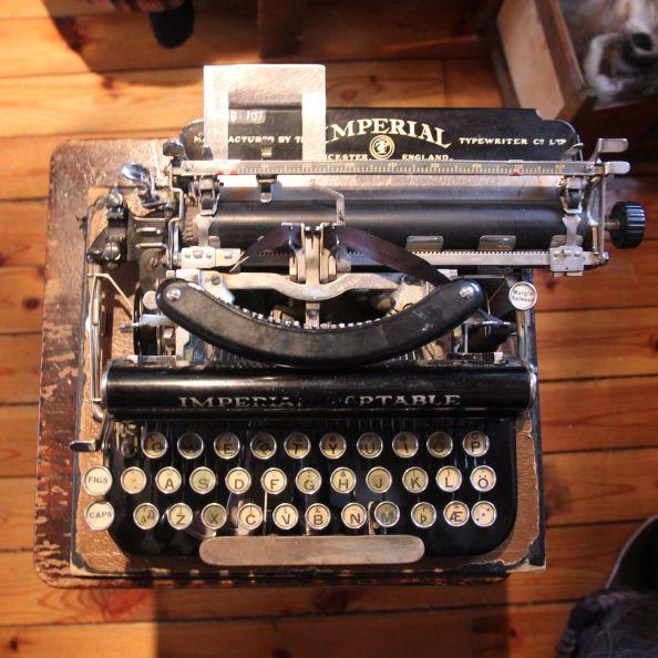 Halldóra Bjarnadóttir's typewriter