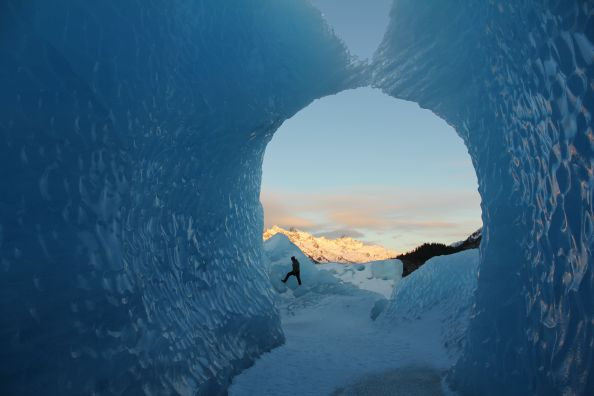 Winter's Light on Glacier Ice
