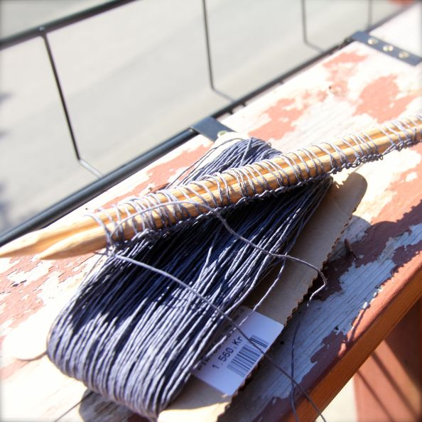 Lace Knitting with Paper Yarn