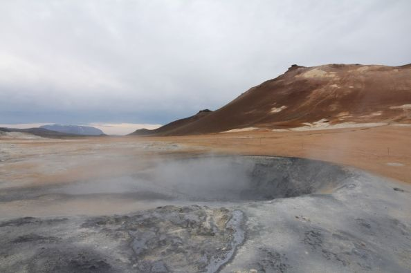 Bubbling mud in North Iceland